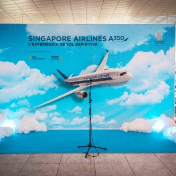 Singapure Airlines evento Photocall